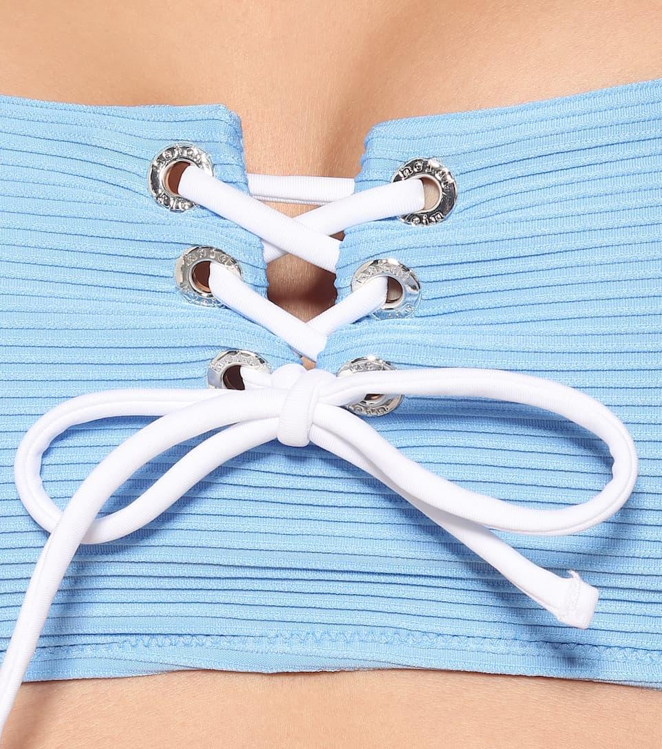 Heidi Klein - Cairns lace-up bikini top