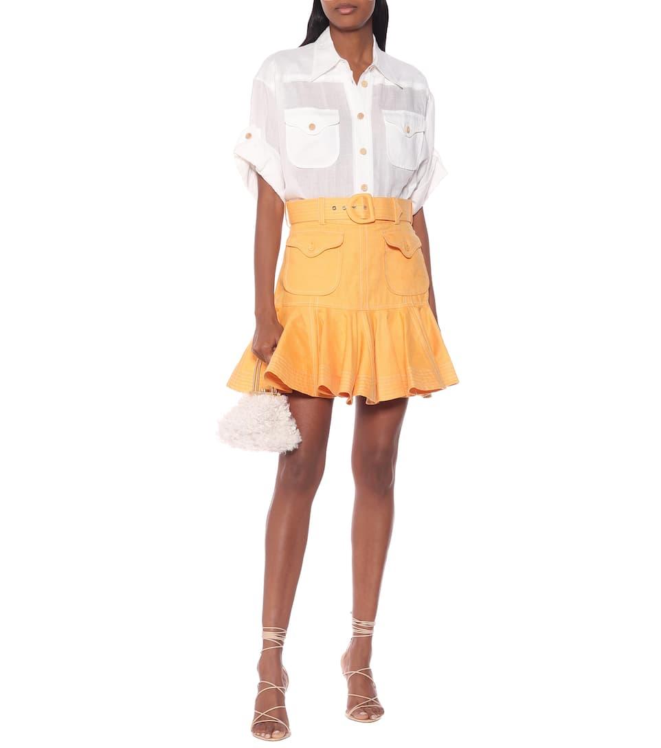 Zimmermann - Super Eight linen miniskirt