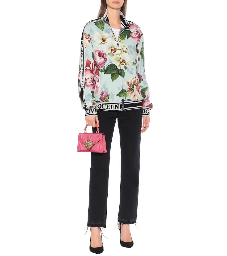 Dolce & Gabbana - Floral stretch-cady track jacket