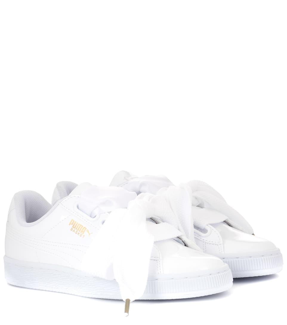 7b3826492e825 Puma - Basket Heart patent sneakers