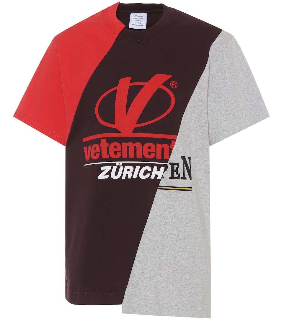 Patchwork Cotton T Shirt Vetements Mytheresa Com