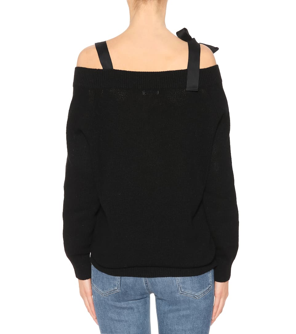 REDValentino Pullover aus Wolle mit Cut-outs