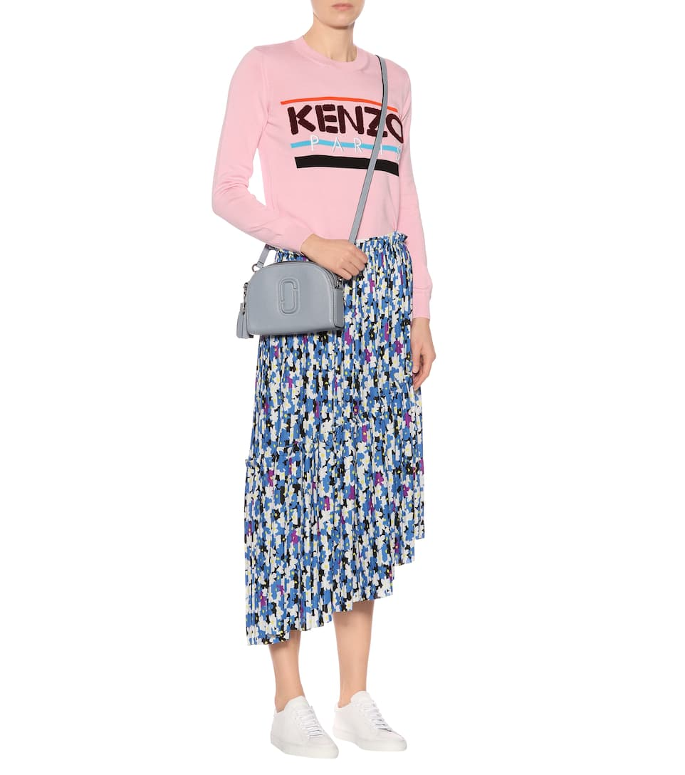 Kenzo Asymmetrical Pleated Skirt