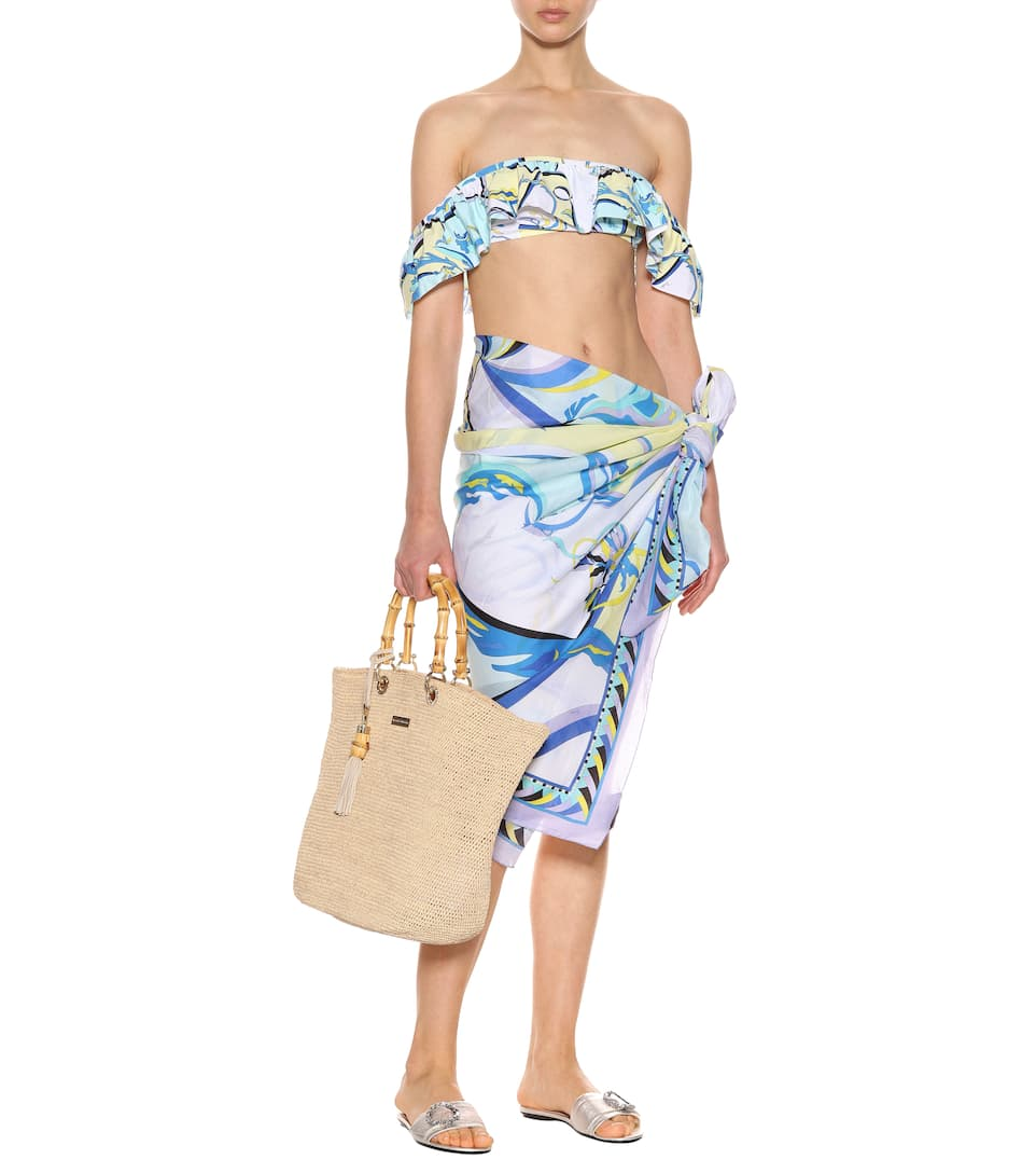 Emilio Pucci Beach Sarong Made Of Cotton