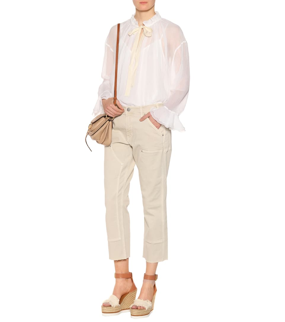 See By Chloé Long Sleeve Of Cotton And Silk