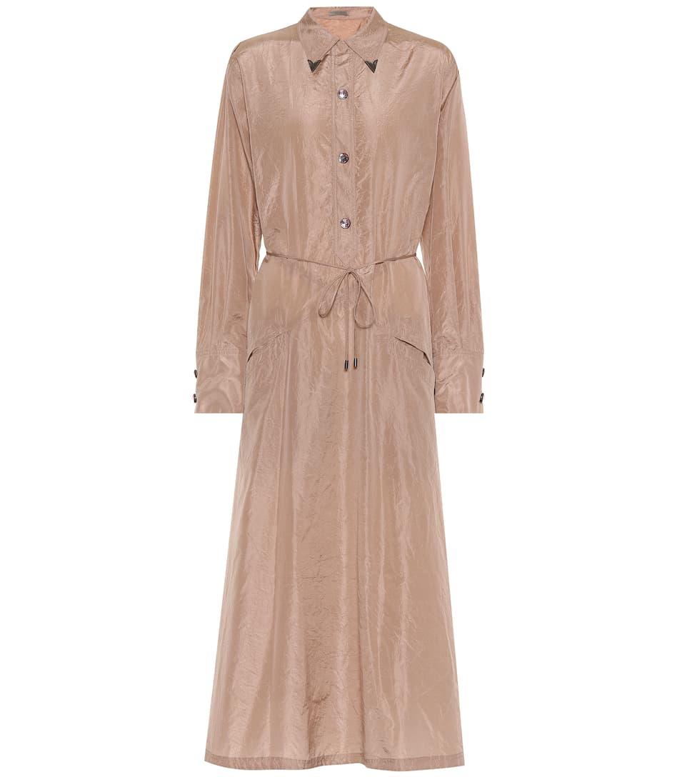 d525ad182937 Embellished Silk Shirt Dress - Bottega Veneta