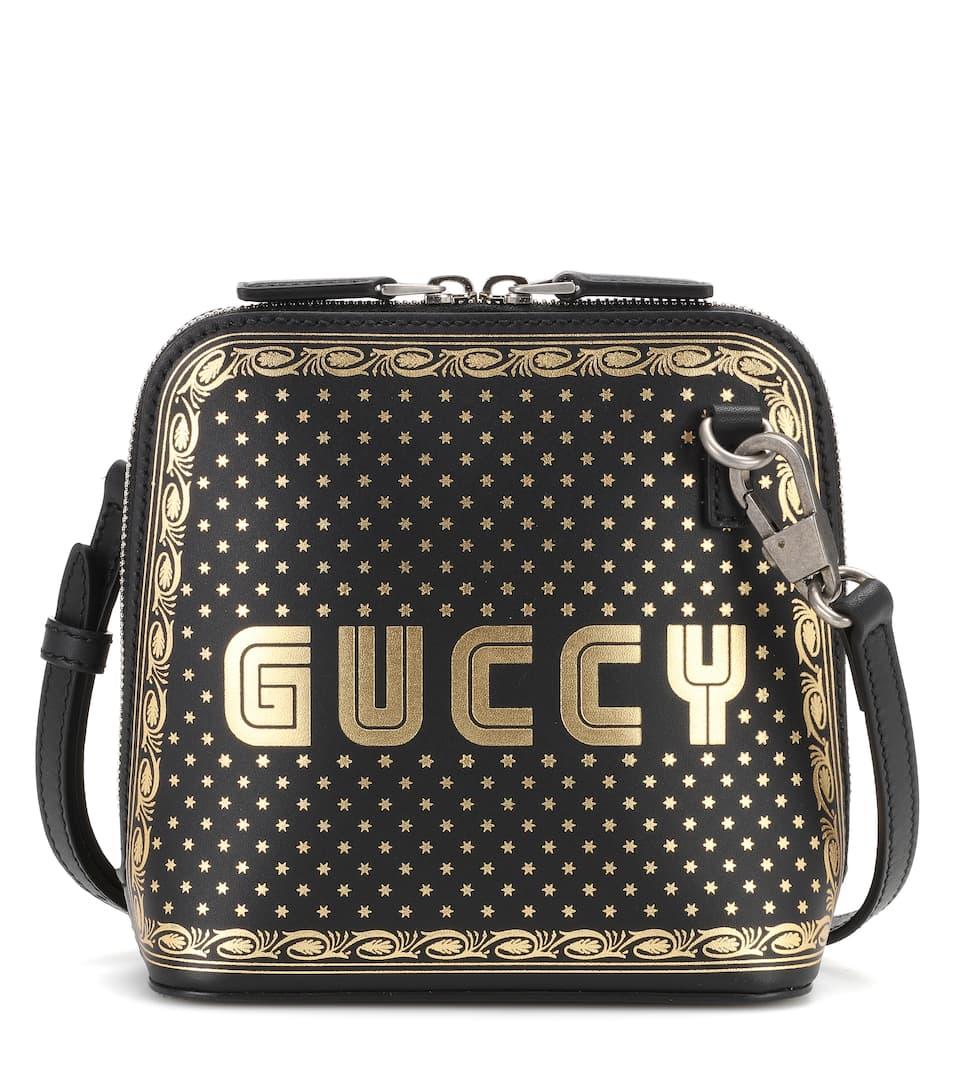 25cc6d223fd0 Guccy Leather Shoulder Bag   Gucci - mytheresa