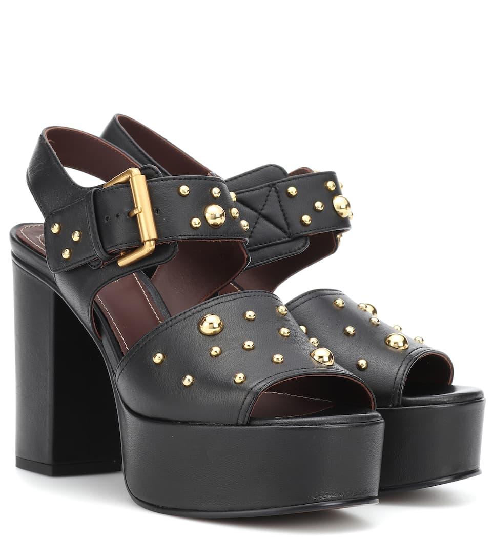 Official Site Sale Online Order Sale Online Chloé Eva leather plateau sandals Top-Rated 6xfqWU