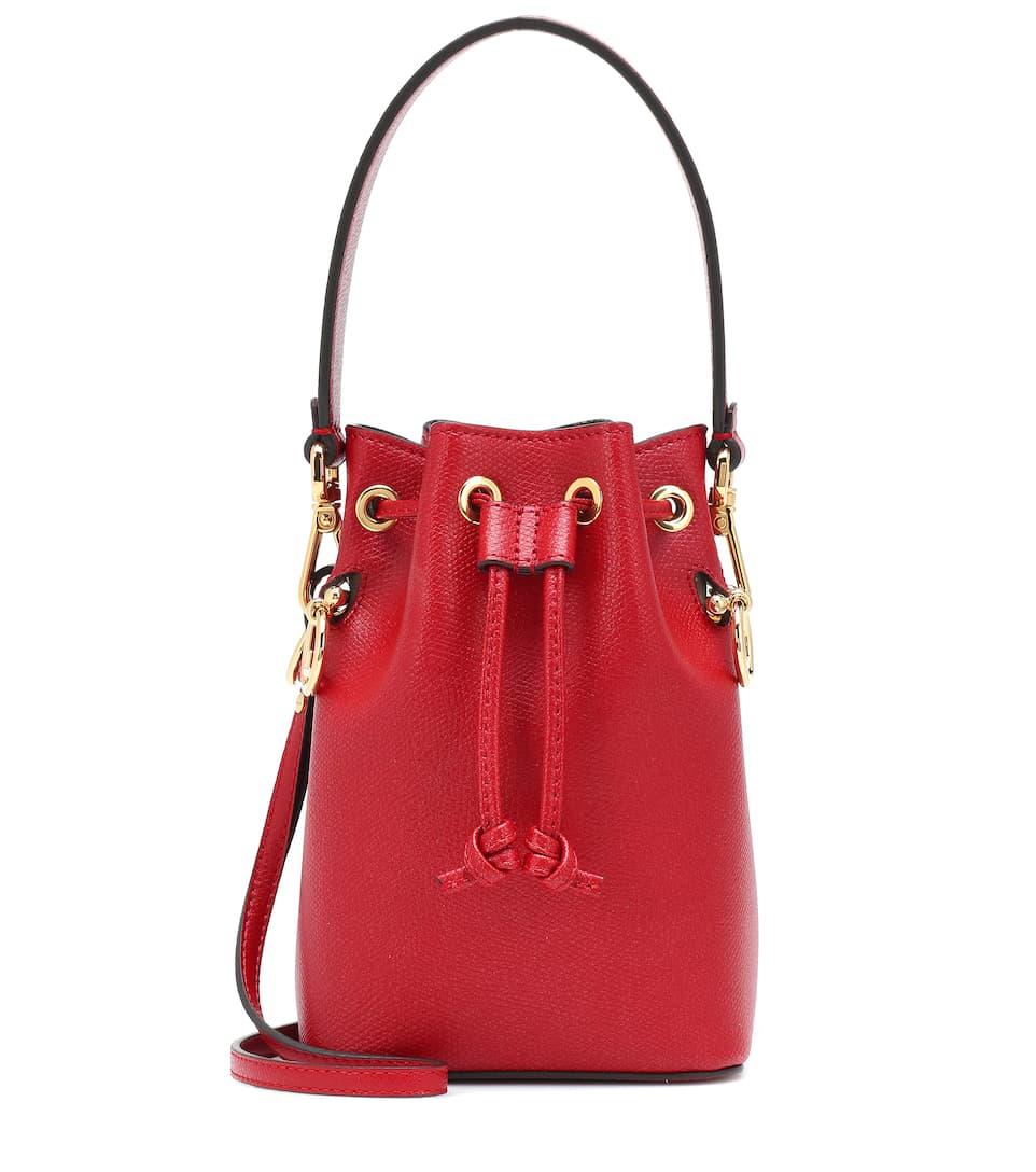 6f2331bbc7d Mon Trésor Mini Leather Bucket Bag