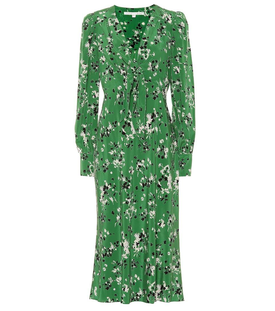 Amber Silk Blend Midi Dress by Veronica Beard