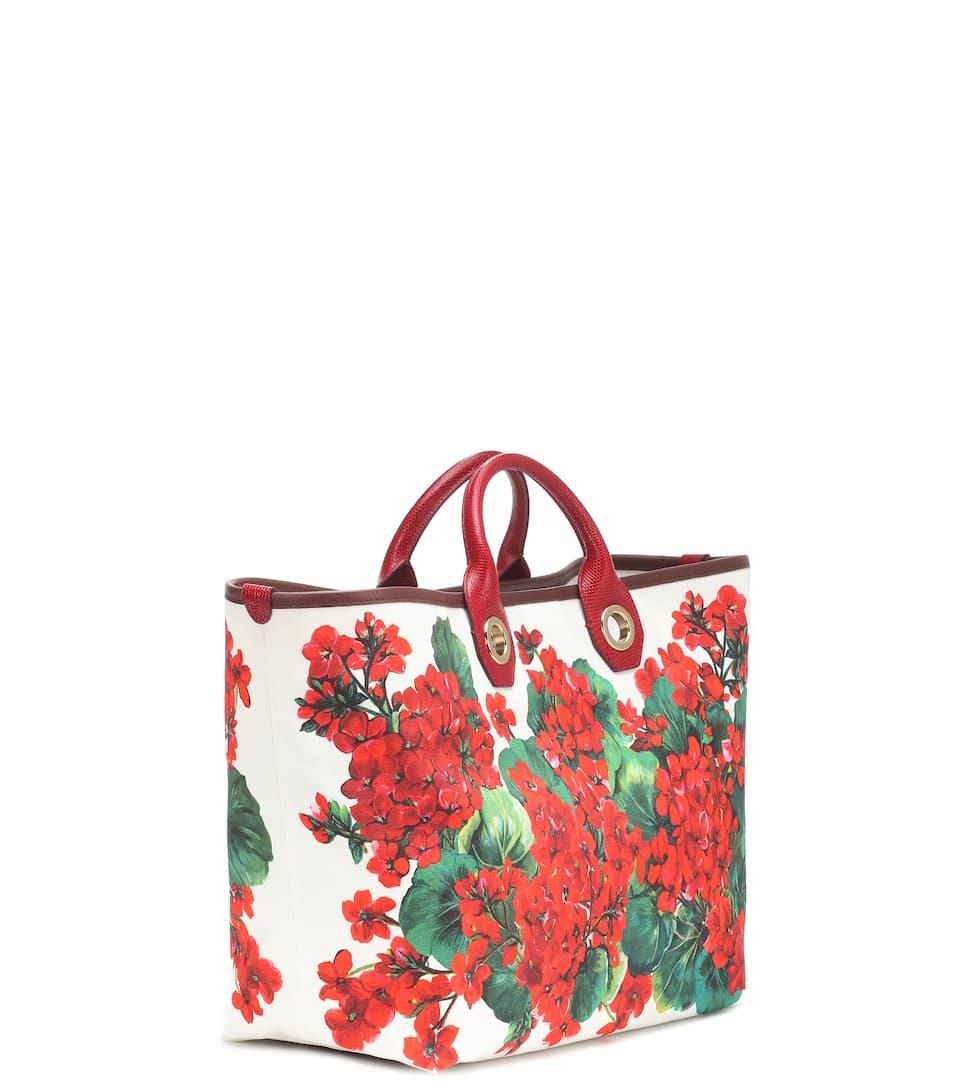 Capri Large Printed Canvas Shopper - Dolce & Gabbana | Mytheresa