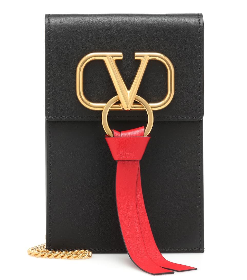 Cuir X En Valentino Iphone Pochette – Vring Garavani dCoexB
