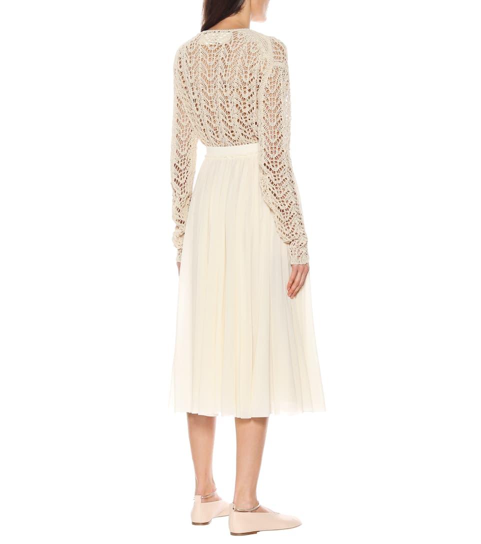 Jil Sander - Pleated midi skirt