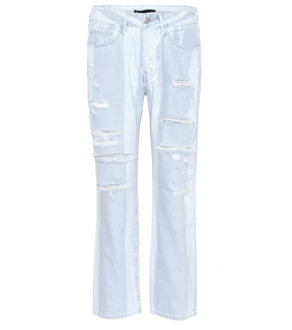 w3 higher ground cropped boyfriend jeans
