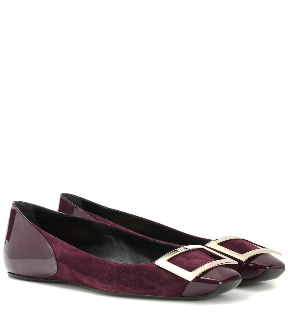 Roger Vivier Trompette suede leather ballerinas X8RknW