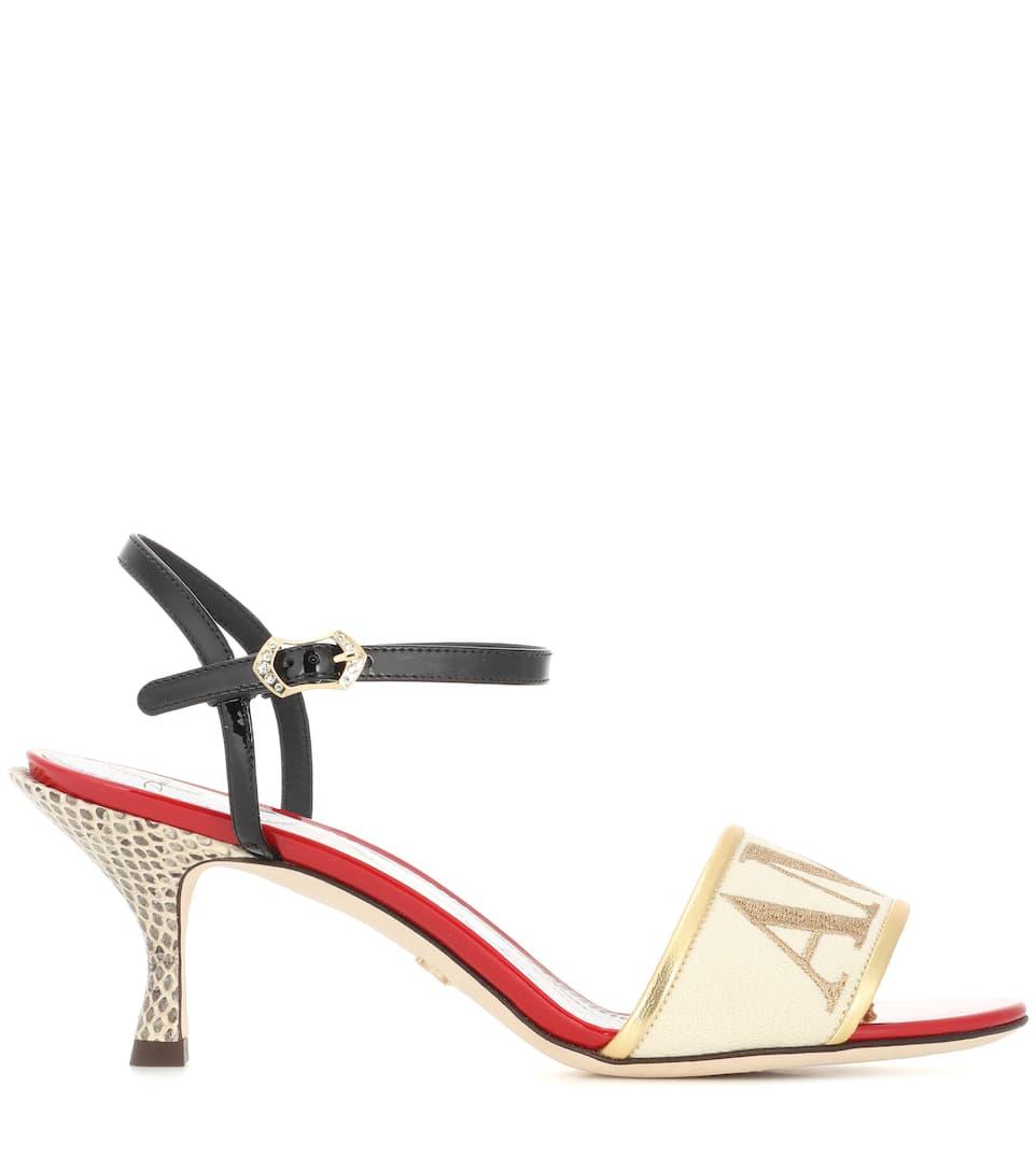 Amore En Cuir Et Des Sandales Snakeskin Dolce & Gabbana u9YRu