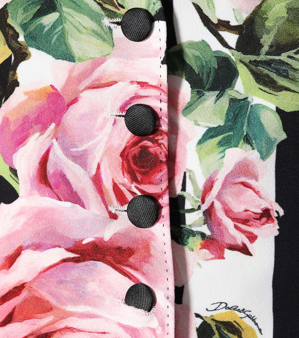 Dolce & Gabbana Bedruckte Weste mit Seidenanteil