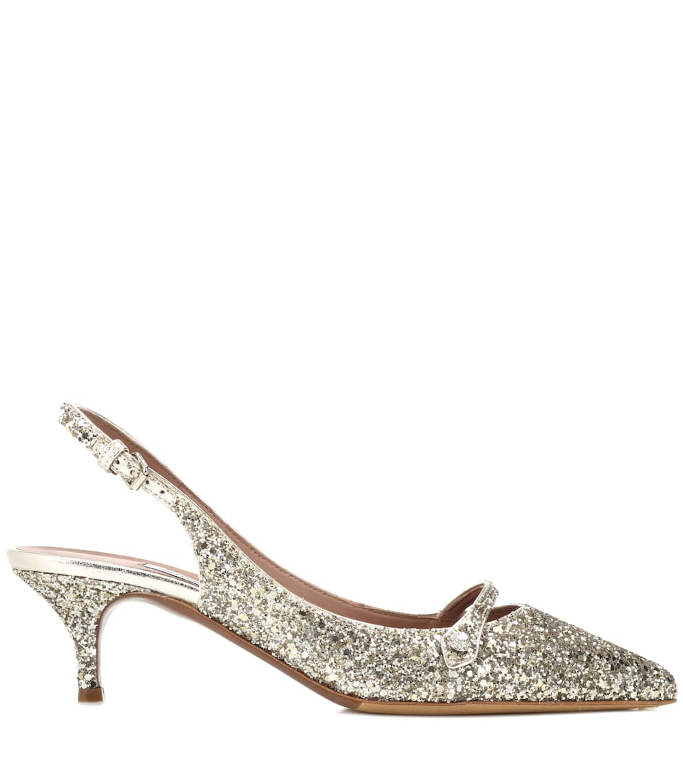 Exclusive to mytheresa.com - Layton glitter slingback pumps Tabitha Simmons