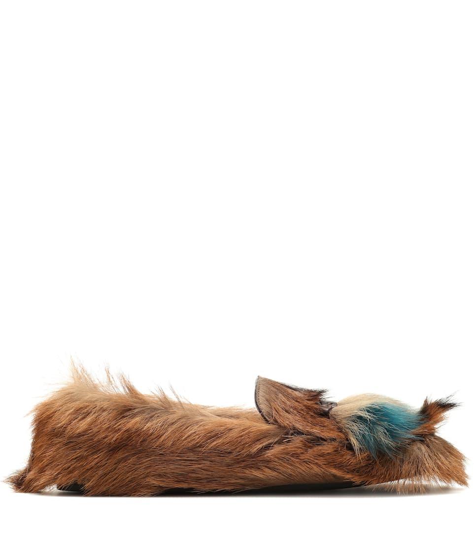 Prada - Mocassins en fourrure