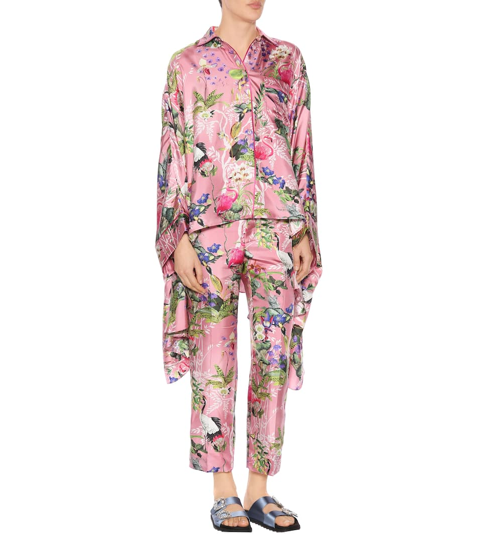 Frs For Restless Sleepers Printed Blouse In Silk