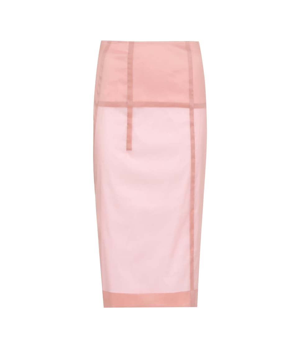Silk Blend Skirt by Victoria Beckham