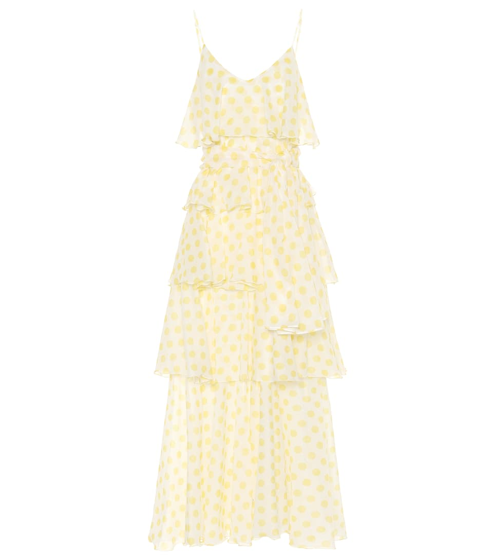 LISA MARIE FERNANDEZ Imaan Dot-Print Cotton Dress - White Pat. Size 2