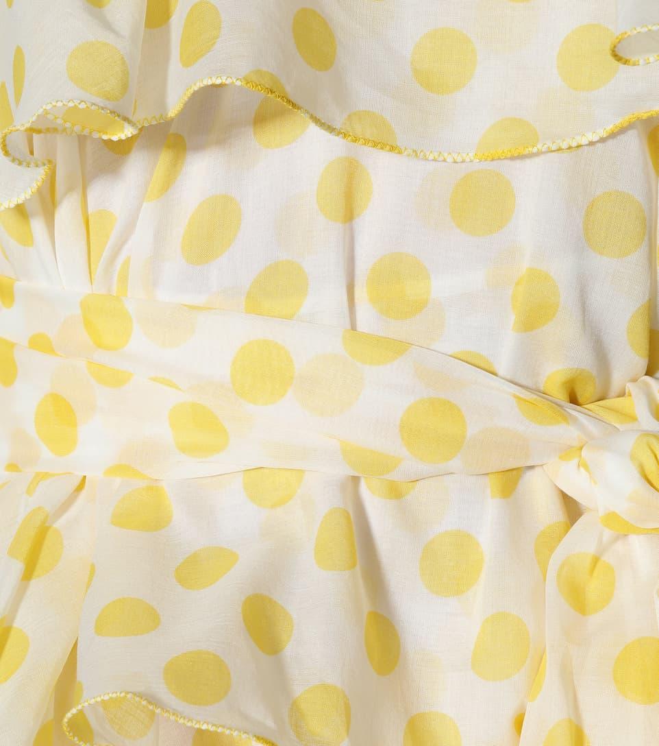 Imann algodón Sheer Fernandez de Blanco lunares Marie Lisa con Cotton Vestido 6qZxp1w