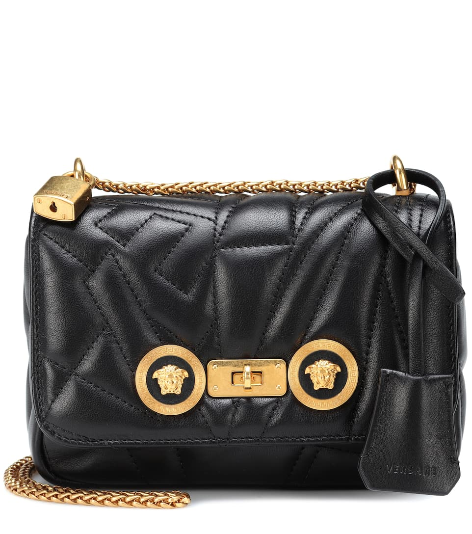 2fd320a593 Versace - Icon quilted leather shoulder bag | mytheresa.com