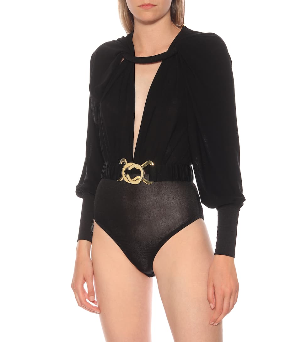 Dodo Bar Or - Embellished stretch-crêpe bodysuit