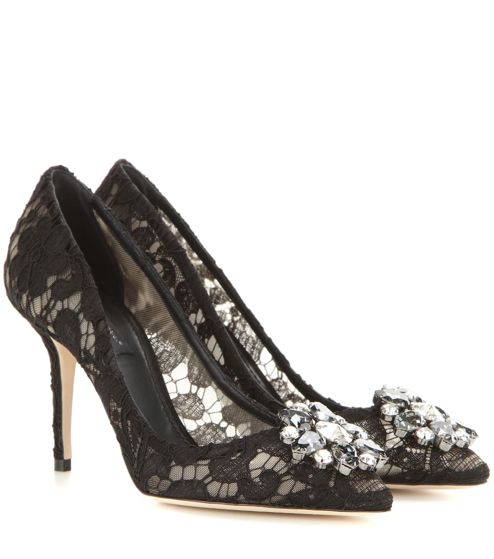 Bellucci crystal-embellished lace pumps Dolce & Gabbana