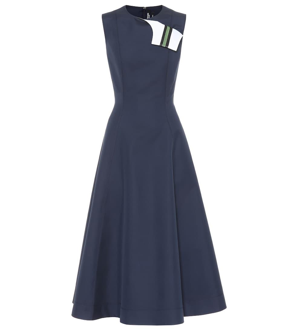 de Klein Vestido una marino 205W39NYC algodón Azul seda de Calvin y línea BtTOqnTw