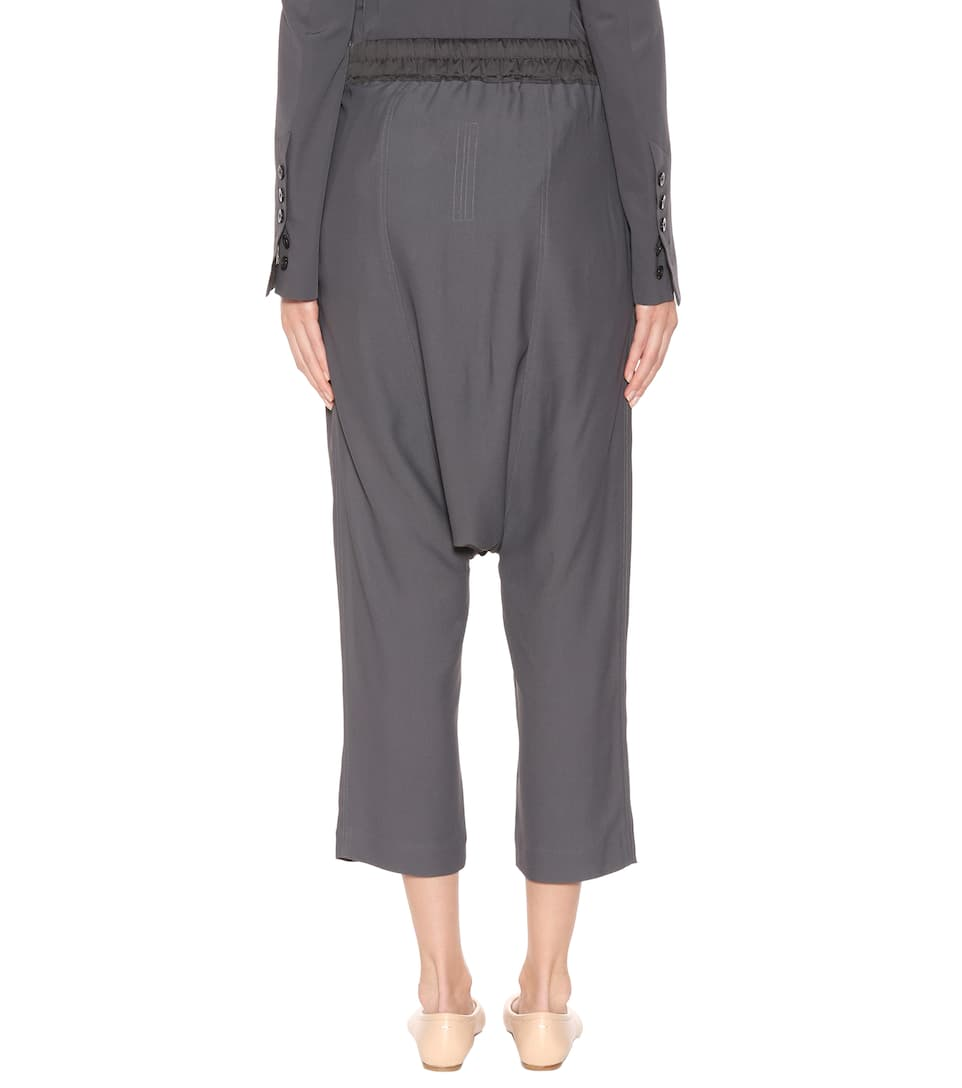 Rick Owens Cropped-Hose Forever aus Jersey