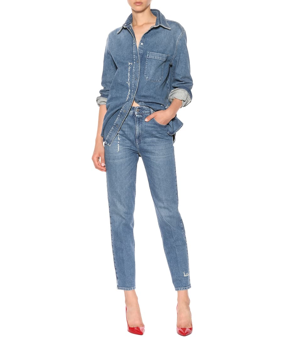 Stella McCartney High-waisted jeans Medium Blue Cheap Sale Low Price Websites Clearance Reliable Explore Cheap Online xQgbJ0