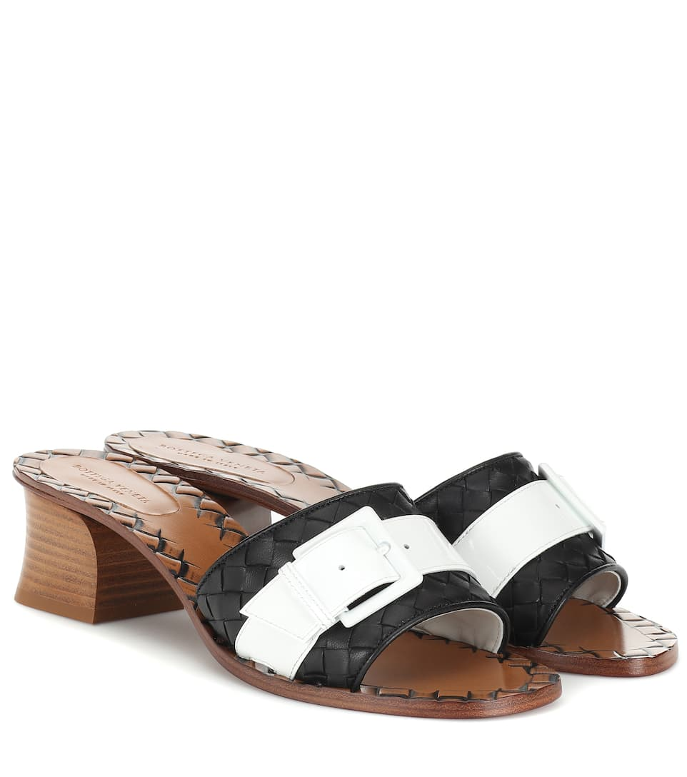f9627562f0a3 Bottega Veneta - Ravello intrecciato leather sandals