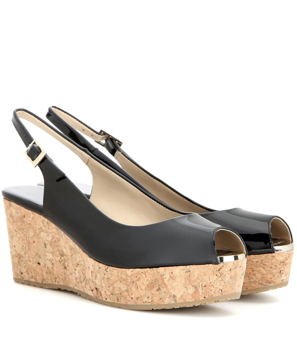 ab18ba4f1350 Praise Patent Leather Wedges » Jimmy Choo