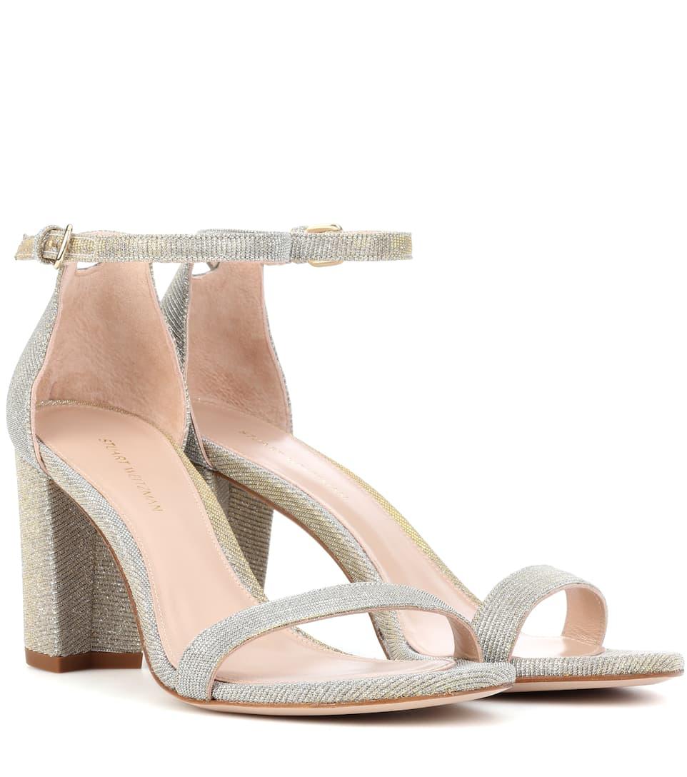 a2dab8a43bd Nearlynude Metallic Sandals - Stuart Weitzman