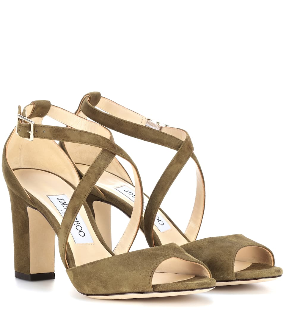 CARRIE 85 SUEDE SANDALS