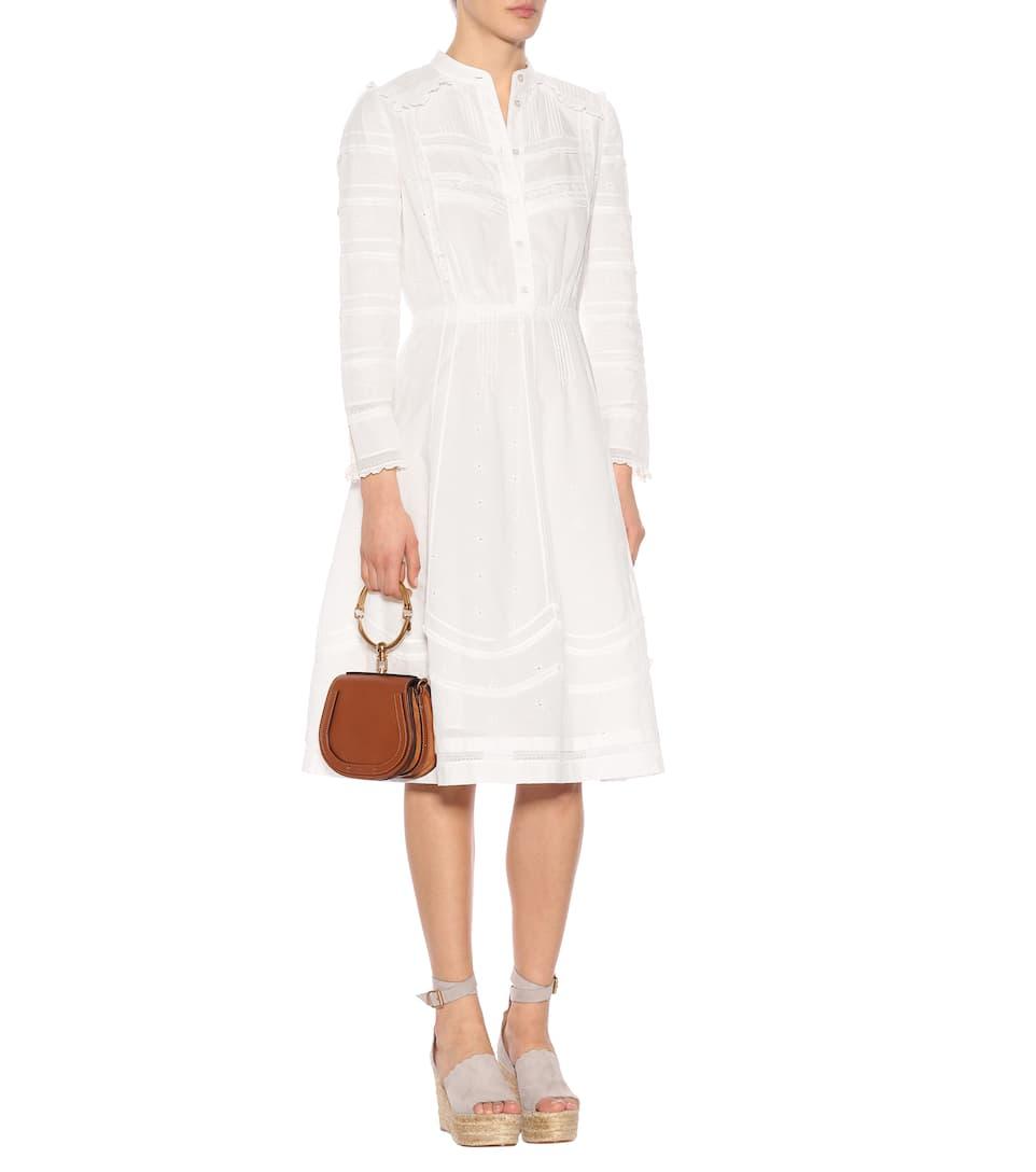 Burberry Kleid aus Baumwolle mit Lochspitze Billig Verkauf Für Billig 1aWBg