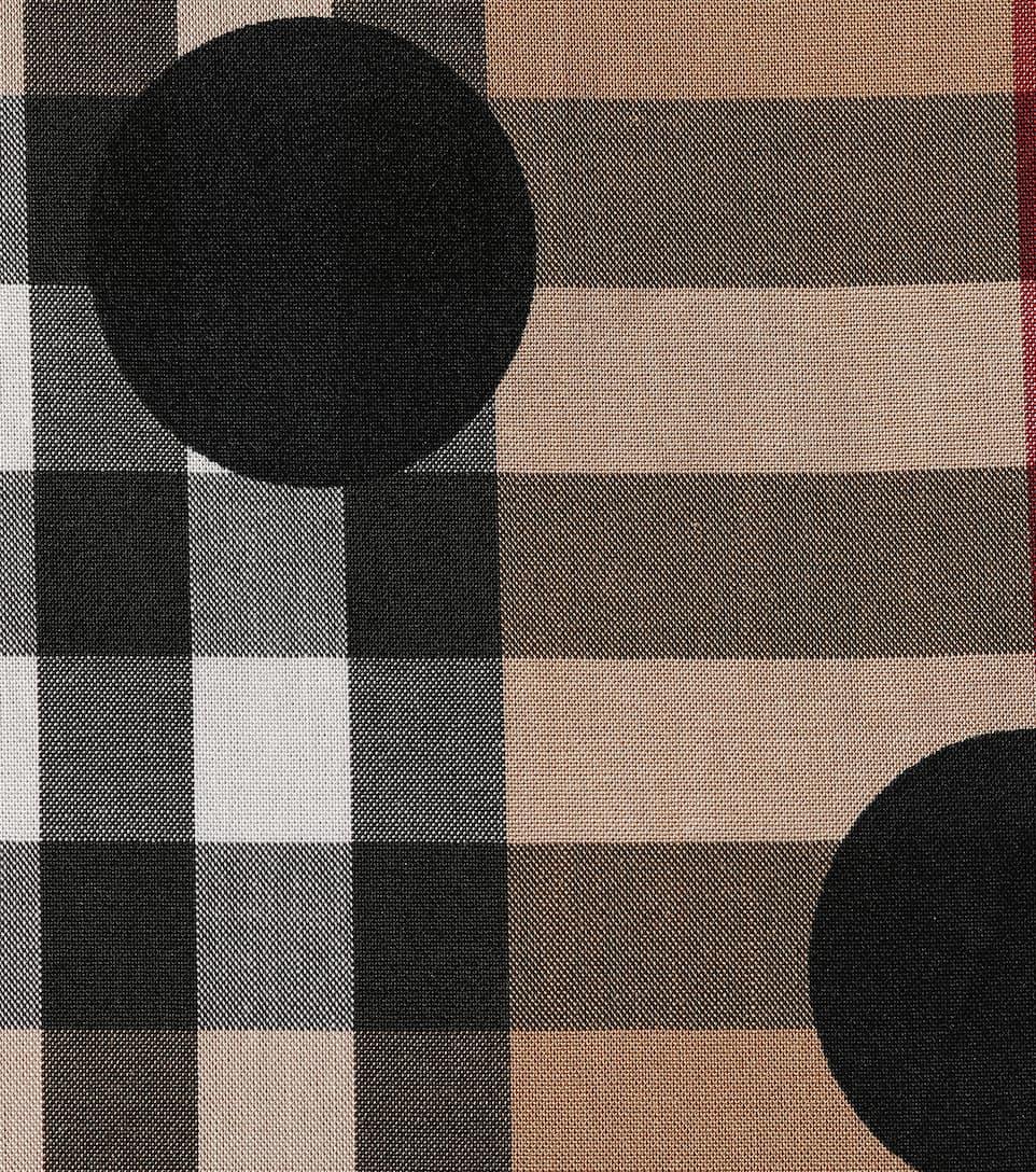 Burberry Hemd aus Baumwolle mit Karo- und Punktmuster