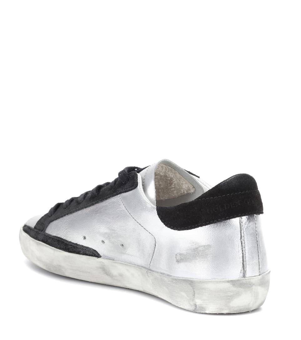 Pelle Superstar Metallizzata Golden Sneakers Goose In 45R3AjL