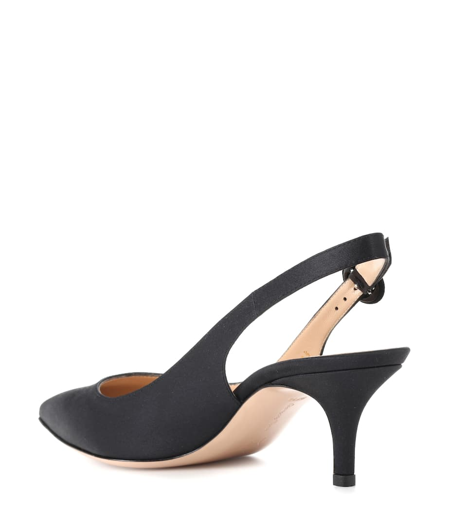Exclusive to mytheresa.com - Anna satin slingback pumps Gianvito Rossi fpH9MqNK0