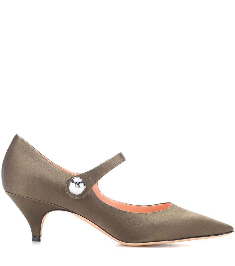 Rochas Mary-Jane-Pumps aus Satin