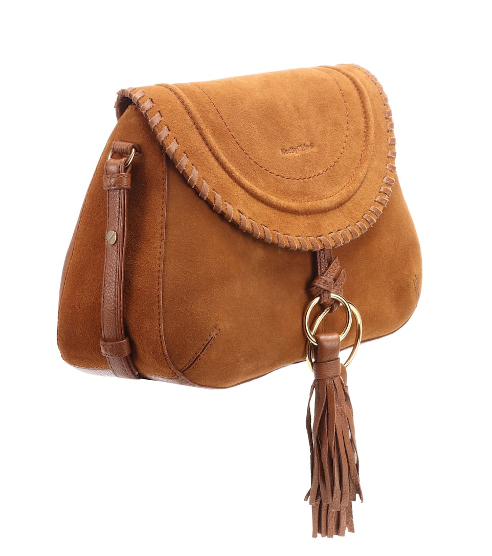 See By Chloé Schultertasche Polly aus Veloursleder