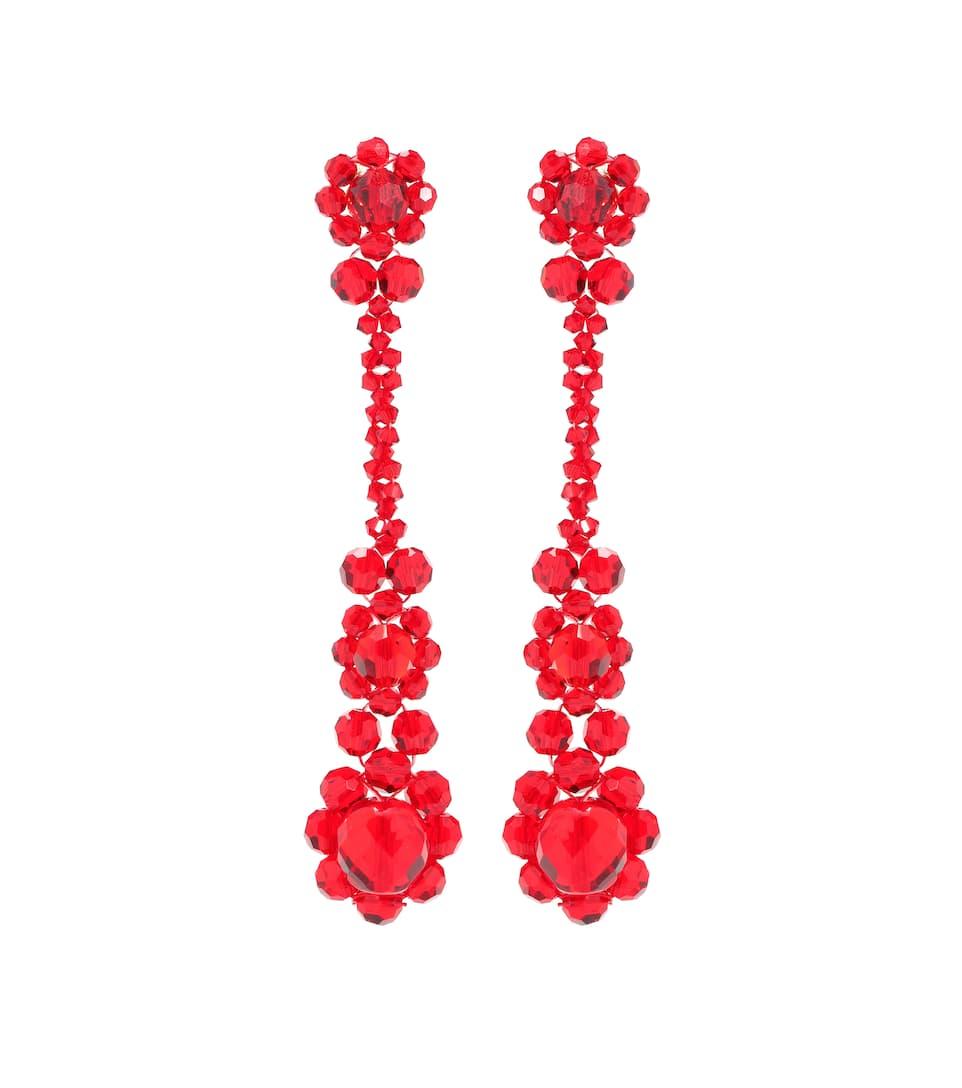 Crystal-Embellished Earrings, Female