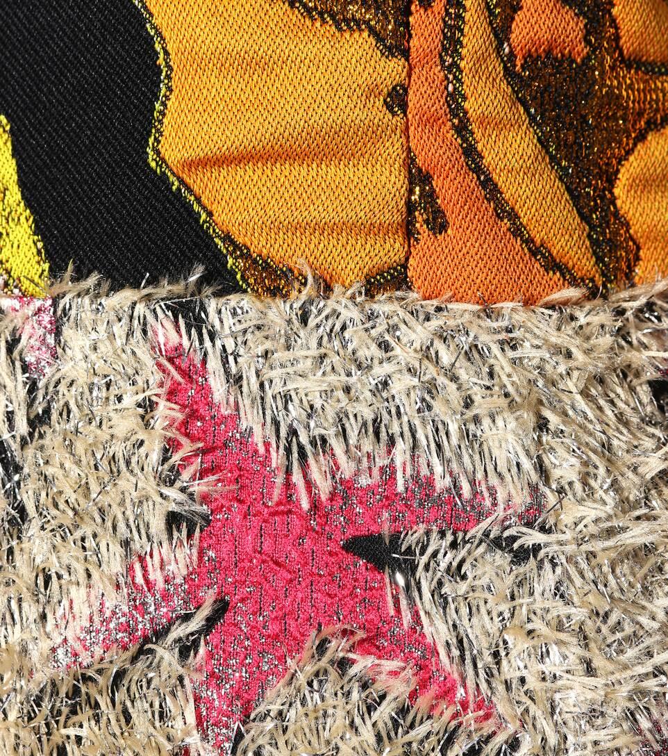 Dries Van Noten Bedrucktes Kleid mit Brokat