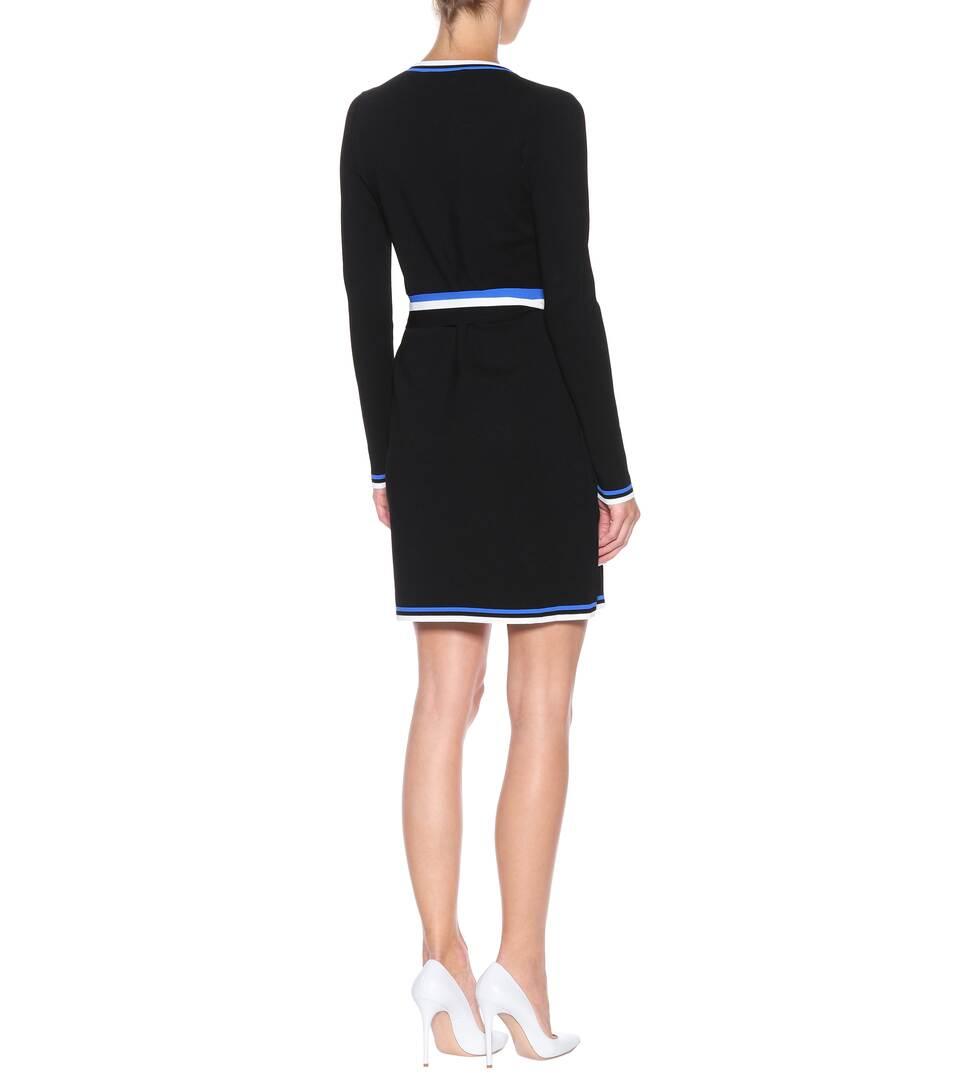 Robe Portefeuille En Jersey Stretch - Diane von Furstenberg Vente Ebay Pas Cher Choix De Sortie BWeUrBFx