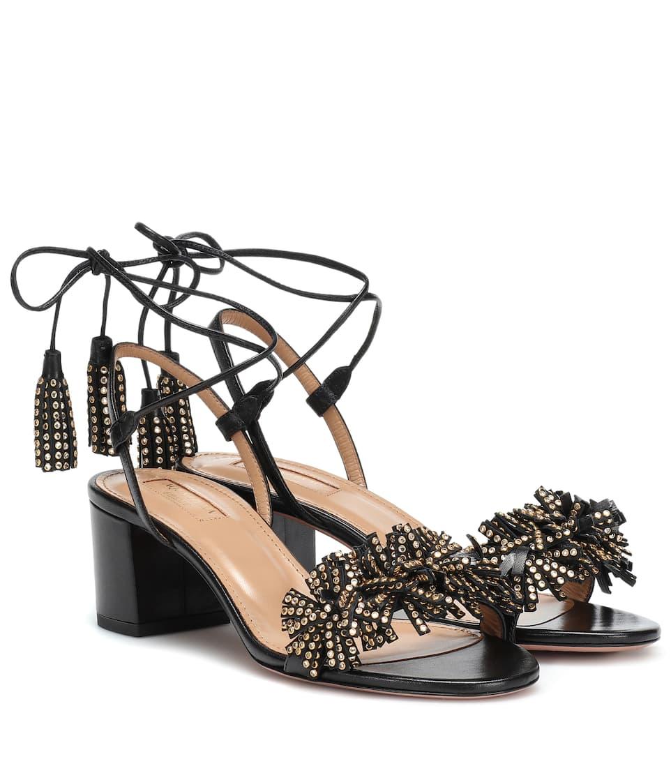 c856ecc60 Wild 50 Embellished Leather Sandals - Aquazzura