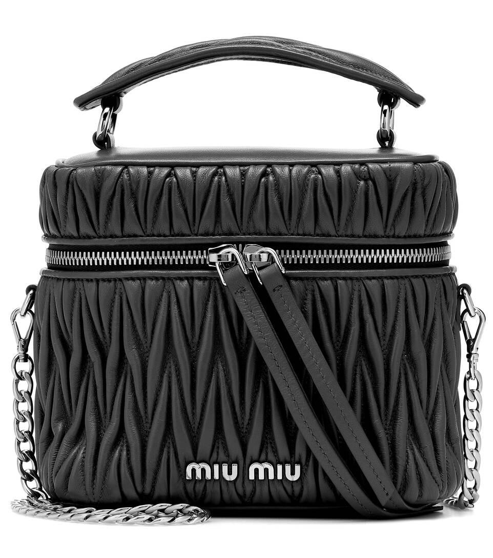 Mini Matelassé Leather Tote by Miu Miu