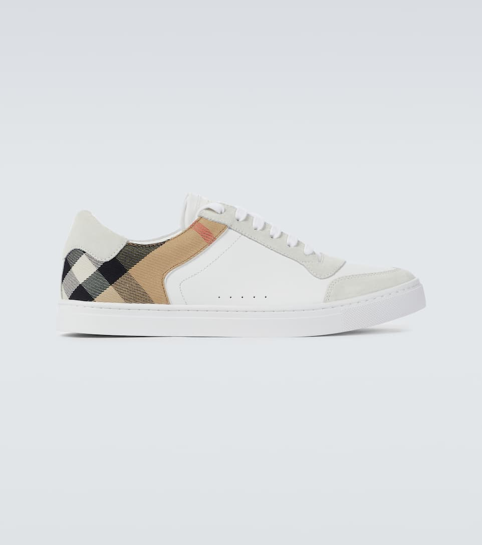 Leather And House Check Sneakers
