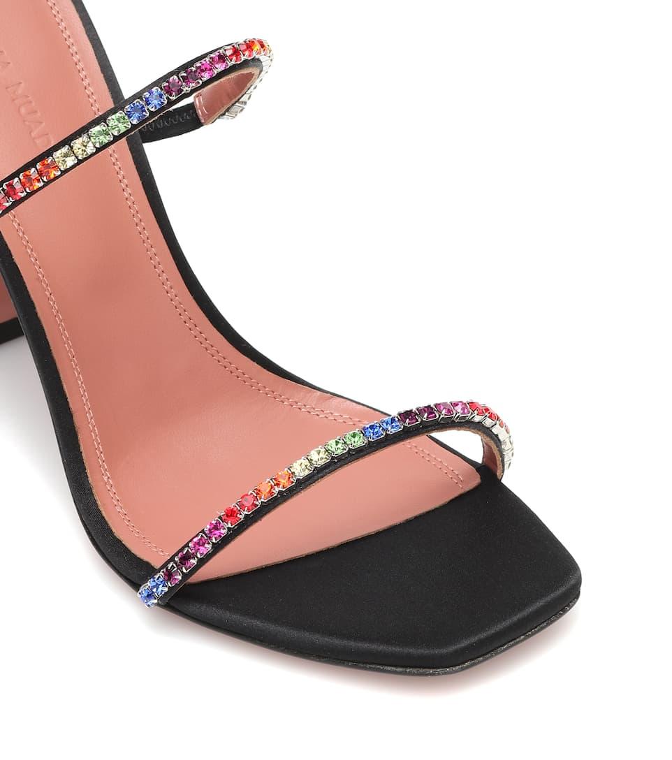Gilda Embellished Satin Sandals Amina Muaddi